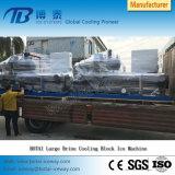 macchina di fabbricazione di ghiaccio di raffreddamento quotidiana dell'acqua salata dell'uscita del ghiaccio 30t