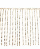 Fashion Accessoires, High-Grade A-drilled Copper Claw Chain Welding Diamond Chain, Decorative Barcode, Clothing Accessoires, voor Clothing Matching