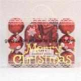 Caja de regalo mezcla de decoración de Navidad Bolas de plástico G73