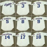 Larry Walker Bill Lee Pedro Martinez Cusomized Retour Baseball Jersey