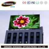 En la pared P10 en la pantalla LED de color de la pantalla de publicidad exterior