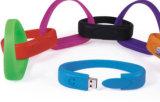 Nuevo estilo de silicona Brazalete Pulsera USB/para la Decoración (014)
