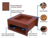 Beste draagbare moderne achtertuin grote stalen buiten Outdoor Fire Pit / Outdoor BBQ Corten stalen vuur tafel