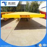 Fabrikmäßig hergestellte 3 Flachbett-halb Schlussteil-flache Plattform-LKW-Schlussteile der Wellen-20FT 40FT
