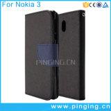 Смешанное аргументы за Nokia 3 телефона Flip кожи PU цвета