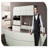 現代デザイン贅沢なステンレス鋼の食器棚