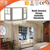 Elegante y graciosa la cicuta de la ventana de la especialidad de aluminio de madera, aluminio Clading madera maciza y de la bahía de la ventana de arco