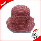 Chapéu cor-de-rosa das mulheres de Sun do chapéu da fita