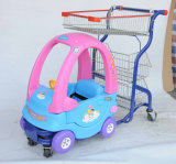 Carrello del capretto per il supermercato con l'automobile del giocattolo