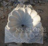 2.8m Piscina pequena série de dois níveis em mármore branco para jardim Mf-064