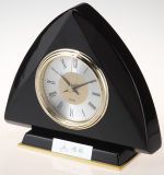 Negro Acabado de piano Mantel reloj de escritorio