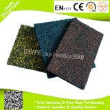 Negro con blanco rojo del verde azul gris de los puntos de Caucho Reciclado Gimnasio Pisos Mats
