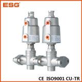 Válvula de ângulo múltipla pneumática de Esg Flang Eends