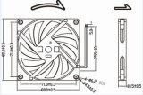 охлаждающий вентилятор 80X80X10mm DC 80mm 12V 24V с функцией PWM