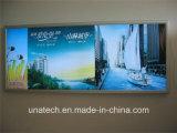 Contenitori chiari Backlit di carta fissati al muro di pellicola della bandiera del blocco per grafici pp dello schiocco dell'alluminio degli annunci della bandiera della striscia del LED