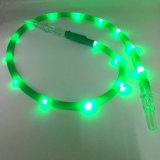 Le boyau 1.8m led verte de Shisha de narguilé de silicones de lampe-torche le plus neuf (ES-HH-015-1)