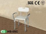 Cadeira de chuveiro de dobramento plástica branca do giro da segurança do hospital para enfermos