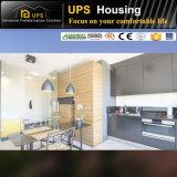 una Camera prefabbricata per la famiglia che vive con le attrezzature della cucina