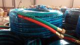 Ligne jumelle boyau de PVC de l'oxygène de soudure