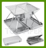 Acier inoxydable grill pliable portable Grill pour le camping (MW-A002)