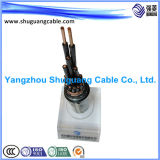 A isolé inférieure de Smoke/PVC/câble de commande engainé par Screened/PVC