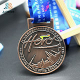 Китай на заводе Custom металлические спортивные медали сувениров с лентой