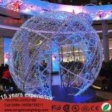 옥외를 위한 LED 3D Xmas 크리스마스 공 빛 훈장