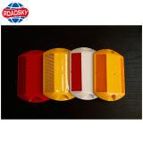 nagel van de Weg van 3m de Dubbele Zij Gele Plastic met Lichte Reflector