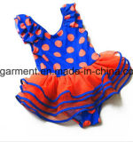 Lovely Kids Lace Swimming Suit, One -Piece Girl & rsquor; S Roupa de banho