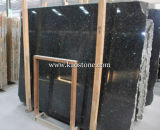 Polished Natural Stone Black Galaxy Granite для Tile, Slab, надгробной плиты