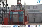 Carga da grua 2t da construção de China Sc200/200 para o levantamento do material de construção
