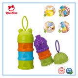 最もよい挿入の製品ディスペンサー3つの層のプラスチック赤ん坊の粉乳の容器