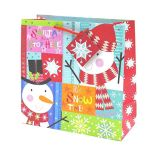 Paillettes d'accents de sacs de cadeau de Noël, du papier cadeau sac, sac de papier, Don sac, sac de papier kraft, sac de papier d'art, du papier de qualité Premium Sac cadeau