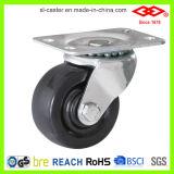 65mm harter Gummi-örtlich festgelegtes Platten-Fußrollen-Rad (D108-53B065X24)