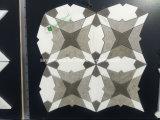 Mosaico blanco y gris del mármol del azulejo de la linterna