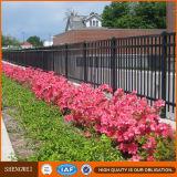 粉の上塗を施してある装飾的な先峰の機密保護の庭の塀
