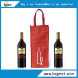nicht gesponnene Beutel-nicht gesponnene Einkaufstasche des Wein-80GSM