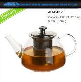 новый питчер создателя чая 400-1200ml стеклянный с фильтром нержавеющей стали