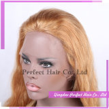 Parrucche anteriori bionde del merletto del platino brasiliano dei capelli umani