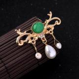 De grootmoedige Tegenhanger van diamant-Encrusted van de Manier Dame Pearl Brooch Pin Jewelry