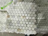 Hexagon Mozaïek van 1 Duim Backsplash van Calacatta het Gouden Marmeren