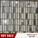 Bordi semplici delle mattonelle di mosaico del marmo di stile, mosaico di vetro del travertino della miscela