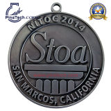 Medaglia degli atleti di maratona della fabbrica con il campione libero e l'illustrazione