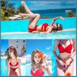 2018 Mulheres Moda Praia Vermelha Sexy Bikini