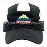 Réfléchissant Stripe peau de pêche microfibre broderie Sport Racing Cap (DOC0126)