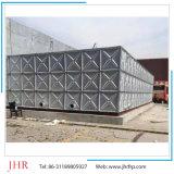 Tanque de água de aço galvanizado com água aquecida quente