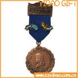 Medalha de ouro do logotipo personalizado para presentes de lembrança (YB-MD-40)