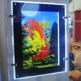 Indicatori luminosi di A4 LED che fanno pubblicità alla casella chiara di cristallo