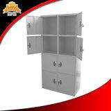 Deux niveaux de l'acier Locker 8 Porte armoire métallique
