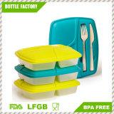 Riutilizzabile-Facile pulire i contenitori del kit del pranzo con memoria facile della forcella e della lama sul coperchio incluso, sul Lunchbox per gli adulti e sui capretti